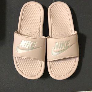Light Pink Nike Slip Ons